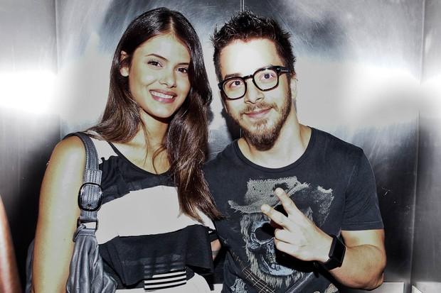 Junior Lima e a namorada, Raissa Maciel, no show de Ben Harper, em São Paulo (Foto: Manuela Scarpa/PhotoRioNews)