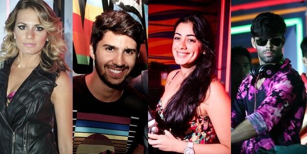 Os DJs da noite: Bruna Félix, Felipe Antunes, Lara Brittes e Guilherme Acrízio (Foto: Reprodução)