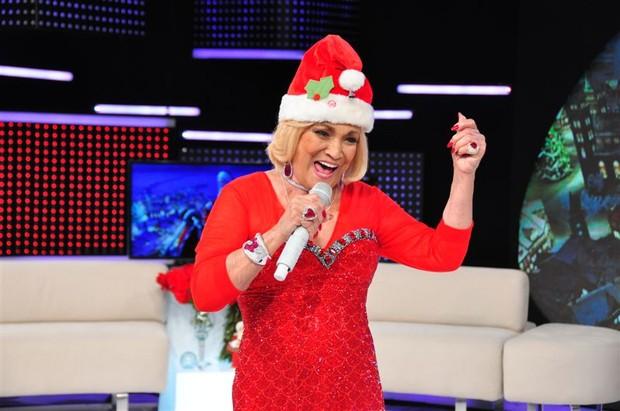 Hebe Camargo comada programa especial de Natal (Foto: Divulgação/ Divulgação)