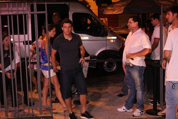 Elano com Alexandra (Foto: Uran Rodrigues/Divulgação)