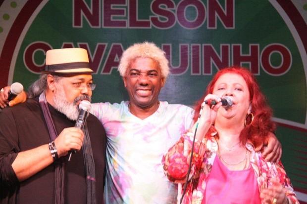 Jorge Aragão, Ivo Meirelles e Beth Carvalho (Foto: Onofre Veras)