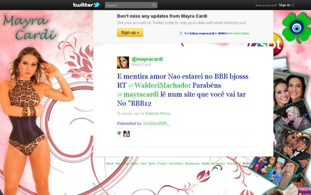 Mayra Cardi (Foto: Reprodução / Twitter)