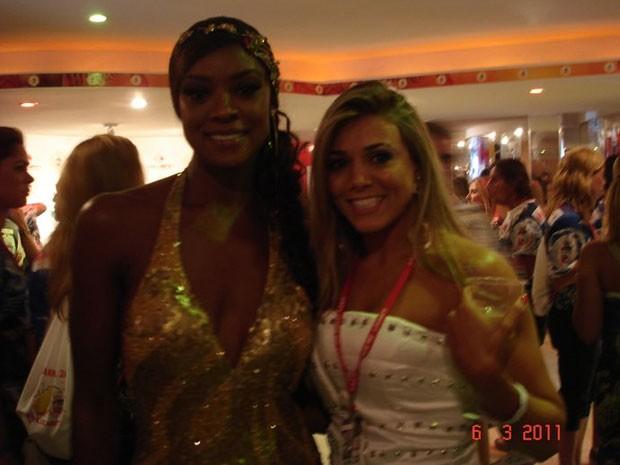 Fabiana Teixeira e Chris Vianna (Foto: Reprodução/Facebook)