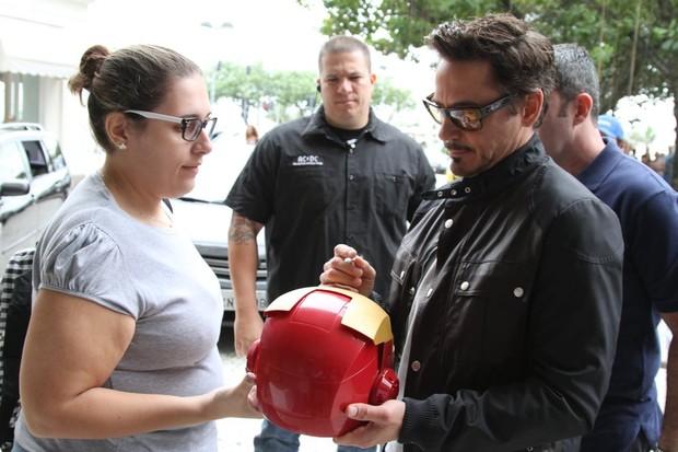 Robert Downey Jr. no Rio (Foto: André Freitas/AgNews)