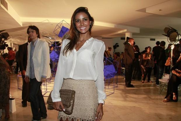 Flávia Sampaio no Fashion Business (Foto: Isac Luz / EGO)