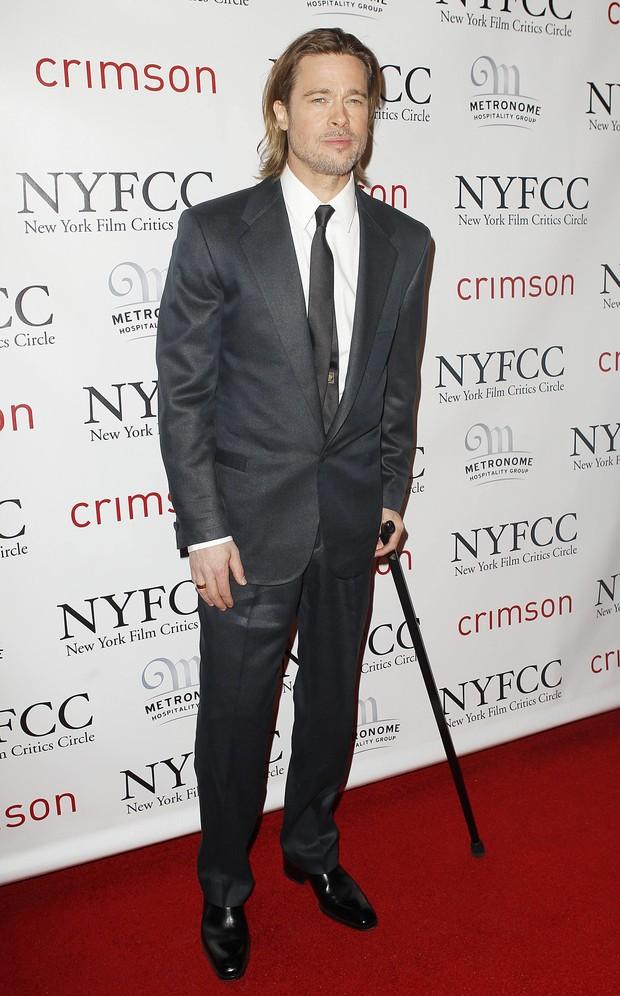 Brad Pitt no Critics Circle Awards em Nova York, nos Estados Unidos (Foto: Reuters/ Agência)