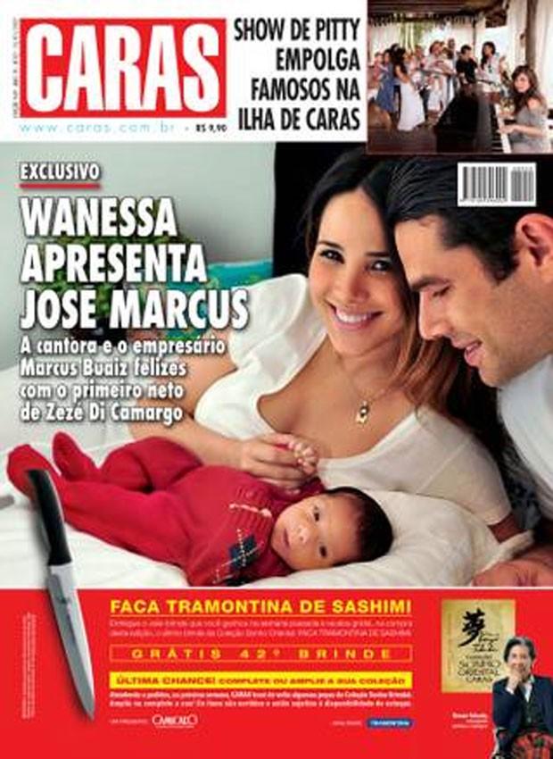 Caras mostra pela primeira vez o José Marcus, primeiro filho de Wanessa e Marcus Buaiz (Foto: Divulgação/ Revista Caras)