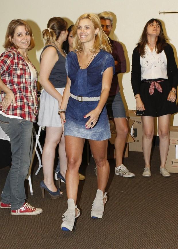 Carolina Dieckmann no Fashion Rio (Foto: Felipe Panfili / AgNews)