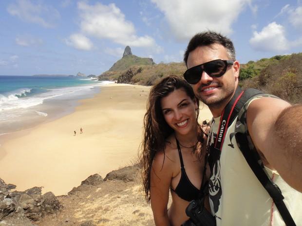 Jacqueline Fernandez e Marcio Kieling em Fernando de Noronha (Foto: Divulgação)