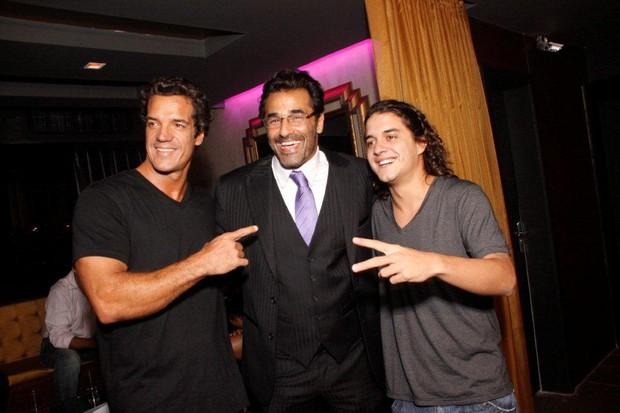 Carlos Machado, Luciano Szafir e Guilherme Boury em inauguração de boate no Rio (Foto: Philippe Lima/ Ag.News)