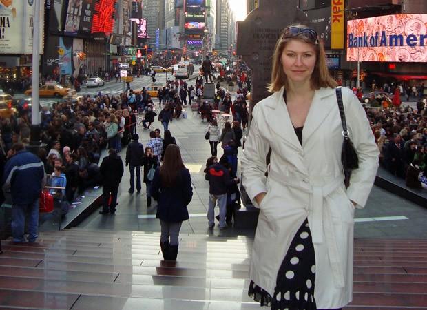 BBB 10 anos - Helena Louro BBB1 NY (Foto: arquivo pessoal)