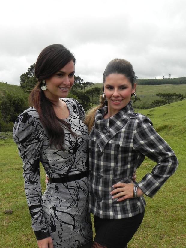 Priscila Machado e a Miss Brasil Deficiente Visual Giselle Hübber (Foto: Denise Wischmann/Divulgação)