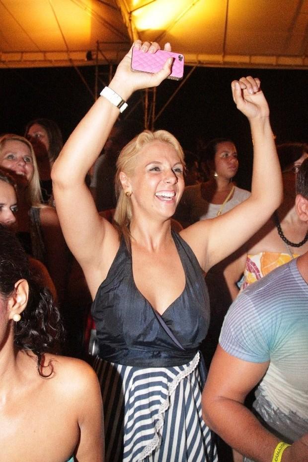 Carla Perez no ensaio do Harmonia do Samba em Salvador, na Bahia (Foto: Fred Pontes/ Divulgação)