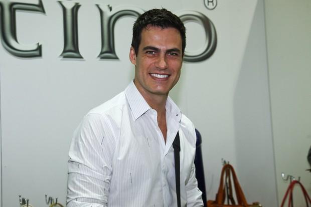 Carlos Casagrande em evento de feira de calçados (Foto: Manuela Scarpa / Photo Rio News)