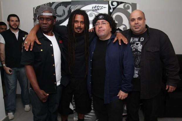 A banda O Rappa em show no Rio (Foto: Anderson Borde/ Ag. News)