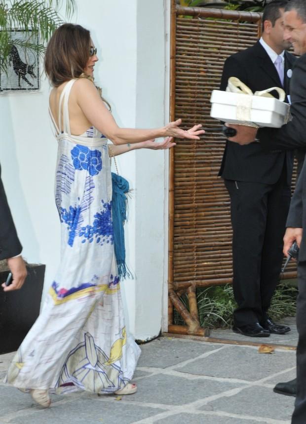 Christiane Torloni no casamento do Diretor Daniel Filho e Olivia Byington na Gavea - RJ (Foto: Felipe Panfili e Felipe Assumpcao/AgNews)