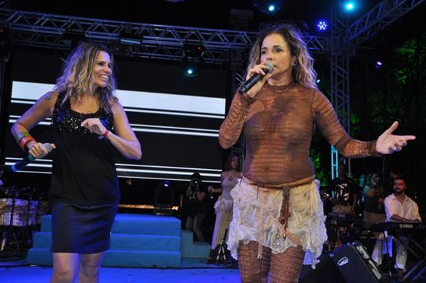 Daniela Mercury e Márcia Freira (Foto: Genilson Coutinho/Divulgação)