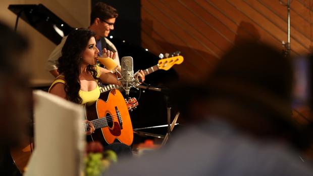 A cantora Paula Fernandes em campanha de bebida à base de soja (Foto: Claudio Lacerda / Divulgação)