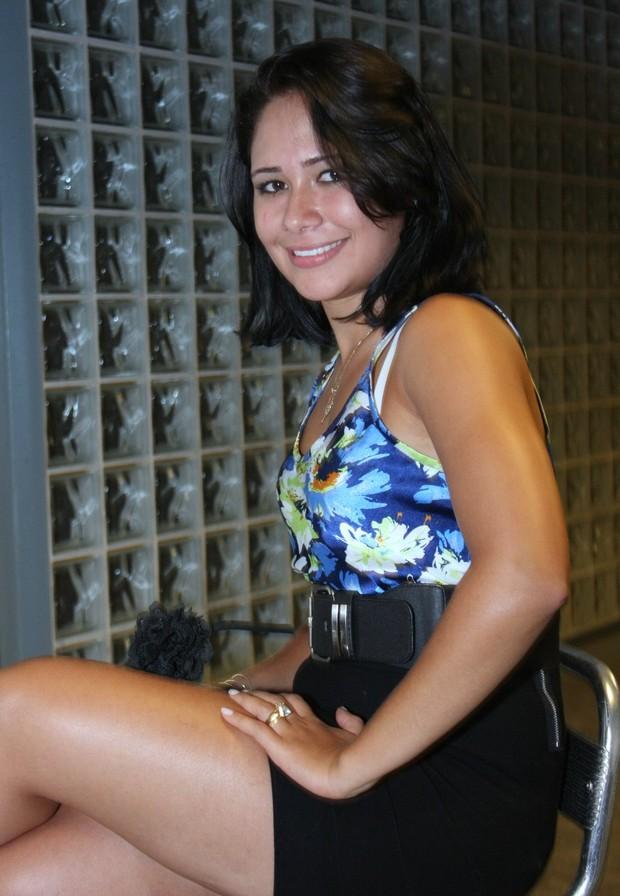 Jakeline no Projac (Foto: Henrique Oliveira/ Photo Rio News)