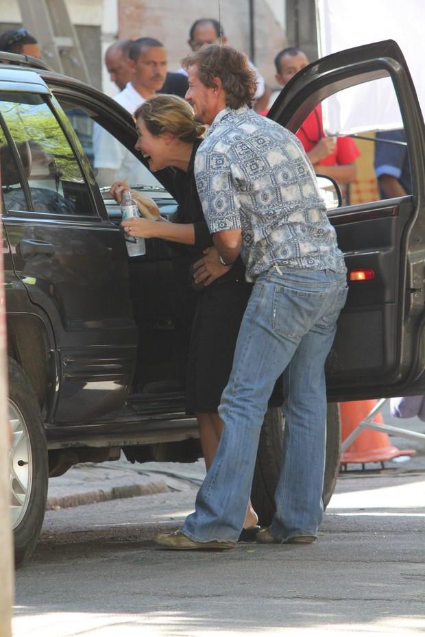 Adriana Esteves e Marcelo Novaes (Foto: Photo Rio News)