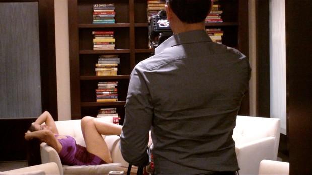 Nana Gouvêa grava vídeo para Dia dos Namorados dos EUA (Foto: Arquivo pessoal)