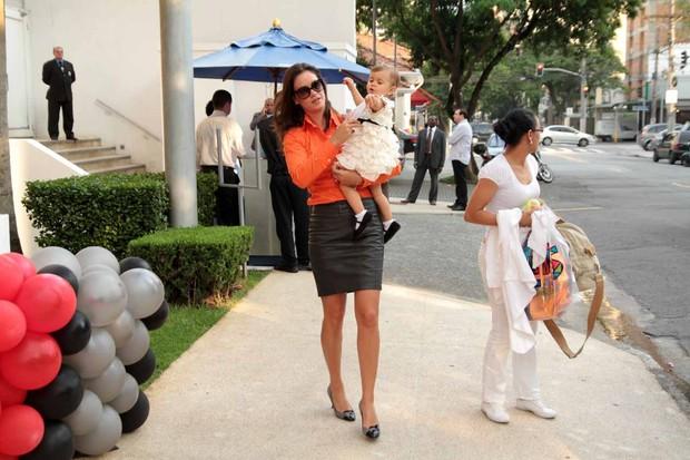 Agatha Felix no aniversário do filho do Faustão, em São Paulo (Foto: Orlando Oliveira / AgNews)