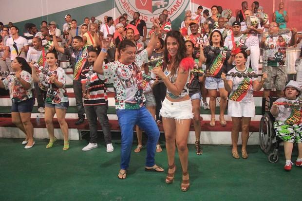 Lizzi Benites e David Brazil no aniversário de Adriana Lessa (Foto: Rodrigo dos Anjos/Divulgação)