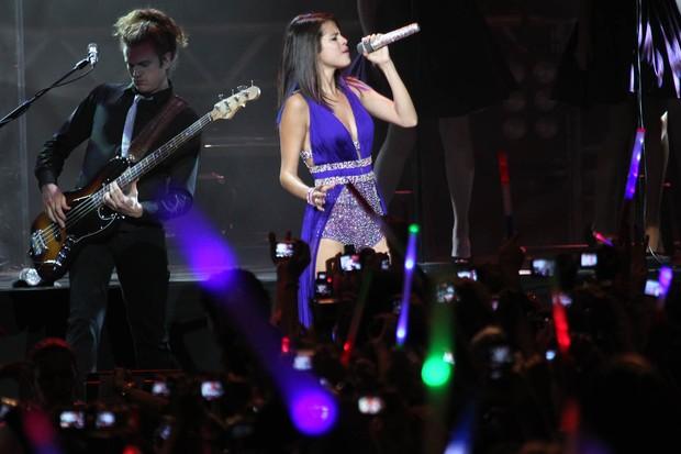 Selena Gomez no show em SP. (Foto: Manuela Scarpa / Photo Rio News)