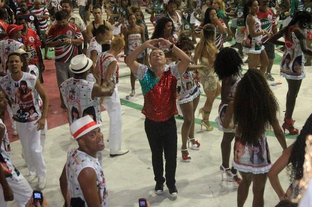 David Brazil em evento na quadra da Grande Rio, em Caxias, Rio de Janeiro (Foto: Rodrigo dos Anjos/ Ag. News)