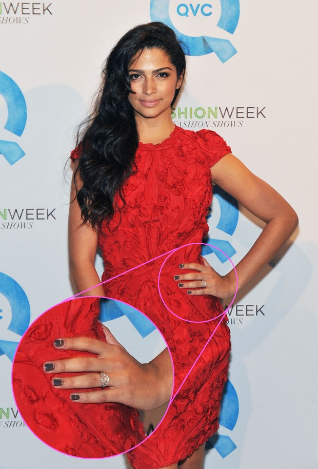 Camila Alves com anel de noivado (Foto: Getty Images)