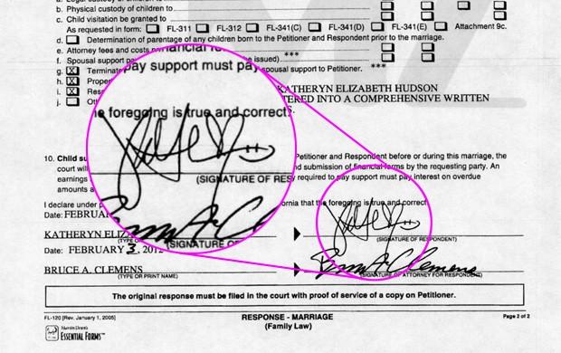 Documento do divórcio de Katy Perry e Russel Brand - destaque (Foto: TMZ / Reprodução)