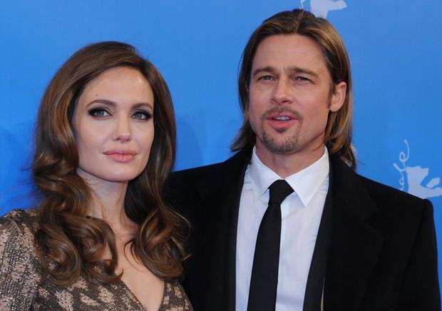 Angelina Jolie e Brad Pitt no Festival de Berlim (Foto: AFP)