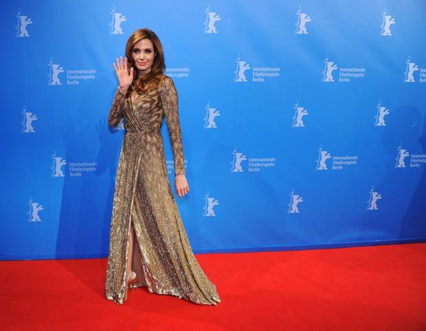 Angelina Jolie no Festival de Berlim (Foto: AFP)