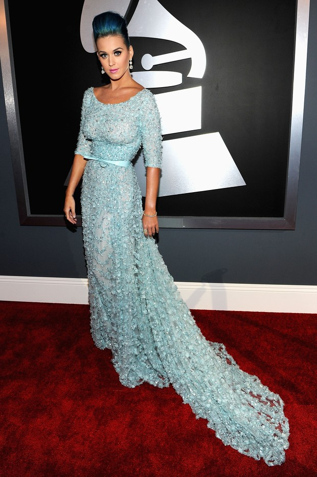 Katy Perry no Grammy em Los Angeles, nos EUA (Foto: Getty Images/ Agência)