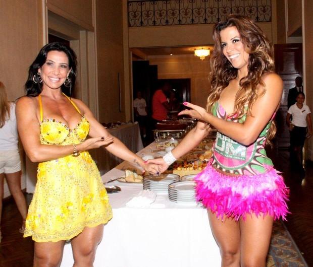 Feijoada da Mangueira SHeila e Renata Santos (Foto: Onofre Veras / AgNews)