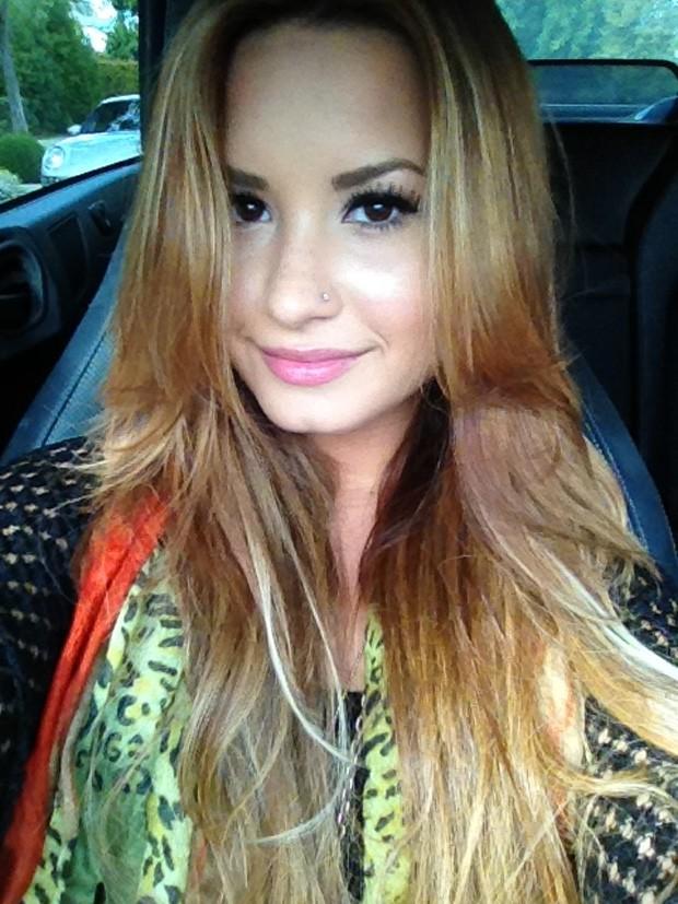 Demi Lovato posta foto de novo visual no Twitter (Foto: Twitter / Reprodução)