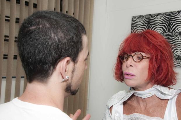 Rita Lee com o estilista: empolgada com o carnaval (Foto: Divulgação/Ricardo Sal)