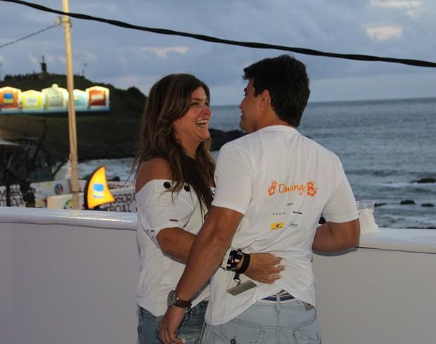 Cristiana Oliveira em Salvador (Foto: Ag. News)