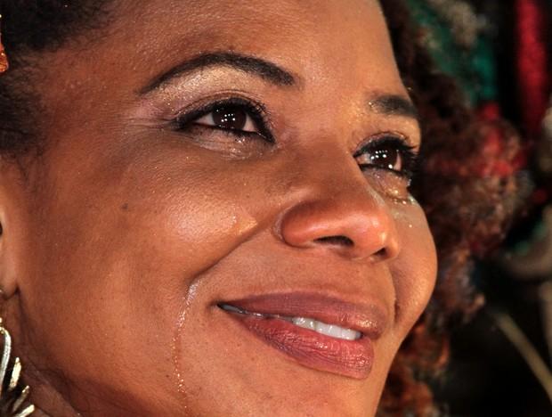 Margareth Menezes se emociona (Foto: Diego Mascarenhas)