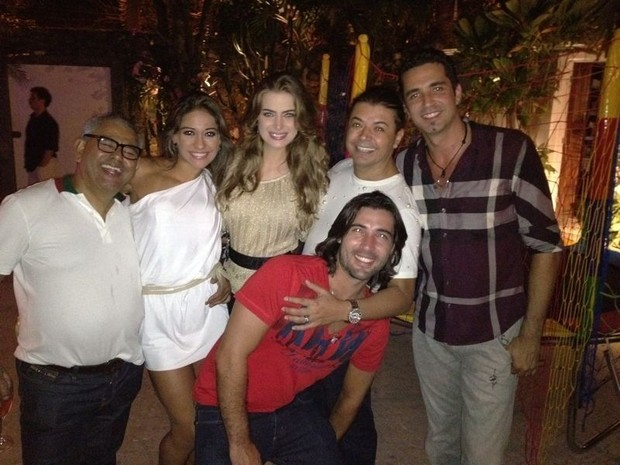 Jaider, Mayra, Rayanne, David Brazil, Latino e Sandro Pedroso (Foto: Reprodução/Twitter)