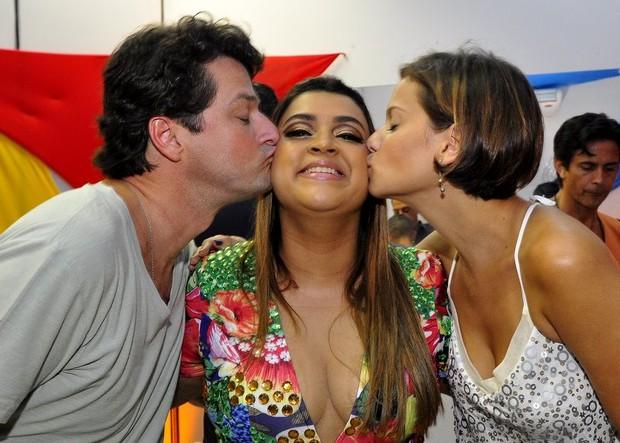 Marcelo Serrado, Preta Gil e Milena Toscano (Foto: Roberto Teixeira/EGO)