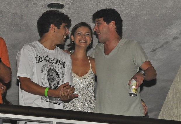Caio Castro, Marcelo Serrado e Milena Toscano (Foto: Roberto Teixeira/EGO)