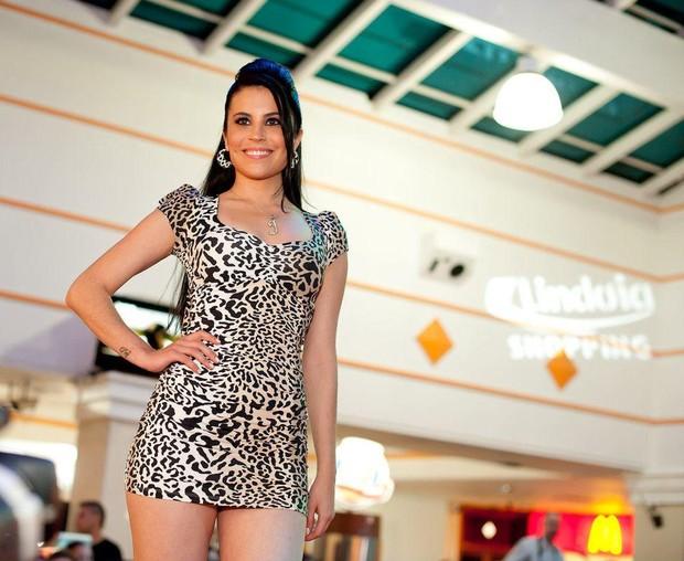 Jéssica Amaral em desfile de moda (Foto: Divulgação)