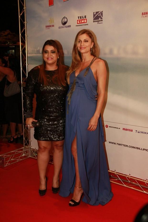 Grazi Massafera e Preta Gil na estreia do filme 'Billi Pig' (Foto: Isac luz / EGO)
