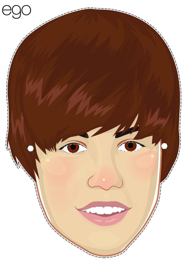 Máscara Justin Bieber (Foto: EGO)