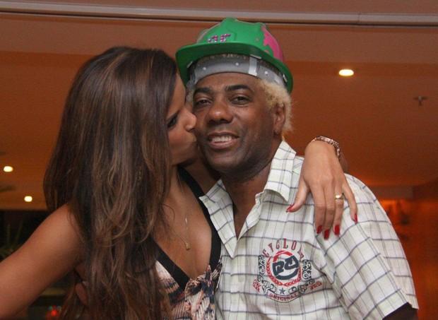 Renata Santos no aniversário de Ivo Meirelles em hotel no Rio (Foto: Onofre Veras/ Ag. News)