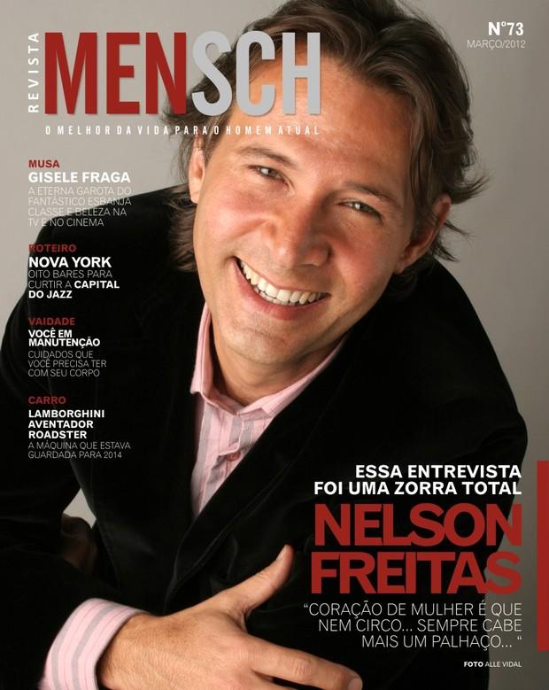 Nelson Freitas na revista MENSCH (Foto: Alle Vidal/Divulgação)