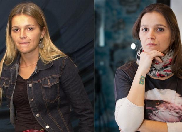 Tina BBB2 (antes e depois) (Foto: Divulgação e Ramom Clemente/EGO)