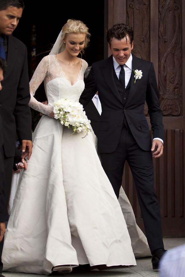 Casamento de Carol Trentini e Fabio Bartelt (Foto: Alessandro Neves e Sergio Cidade Jr / Photo Rio News)
