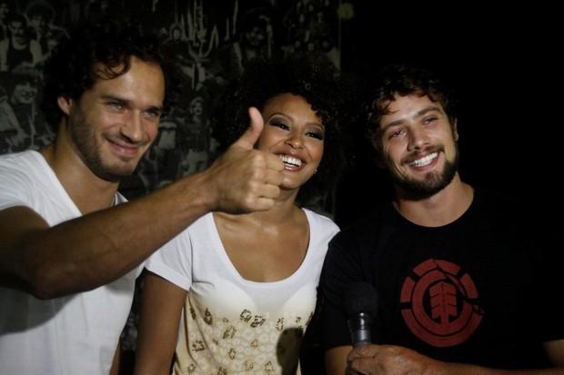 Paulo Rocha, Sheron Menezzes e Rafael Cardoso em evento em Maringá (Foto: Philippe Lima / AgNews)